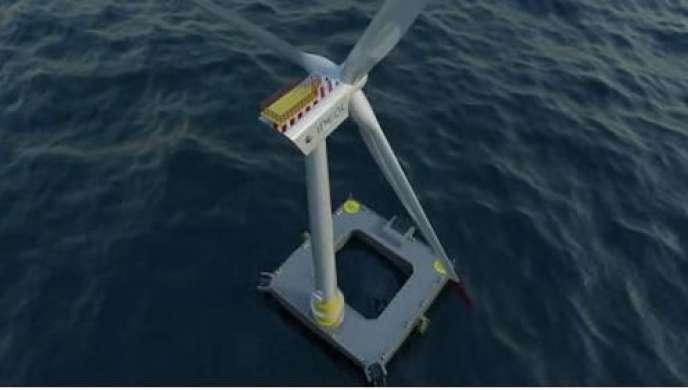 Projet d'éolienne flottante