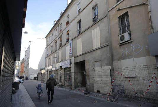 L'immeuble de Saint-Denis où a eu lieu le raid, mercredi 18 novembre.