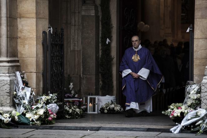 Le cardinal Barbarin, le 23 novembre 2015 à Lyon.