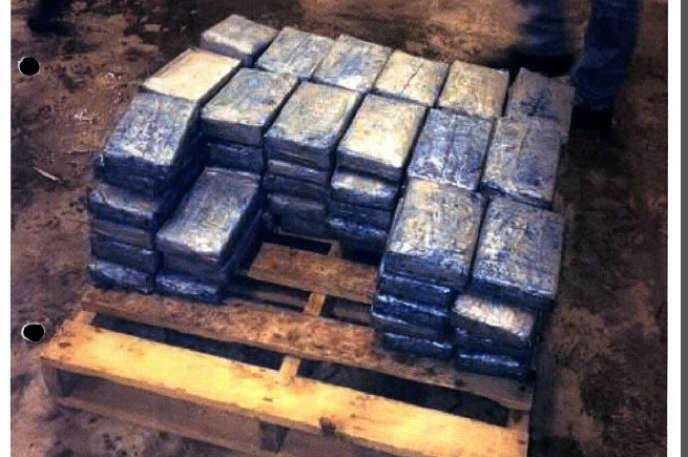 Les 79 paquets de cocaïne saisis à Rotterdam en avril 2013.