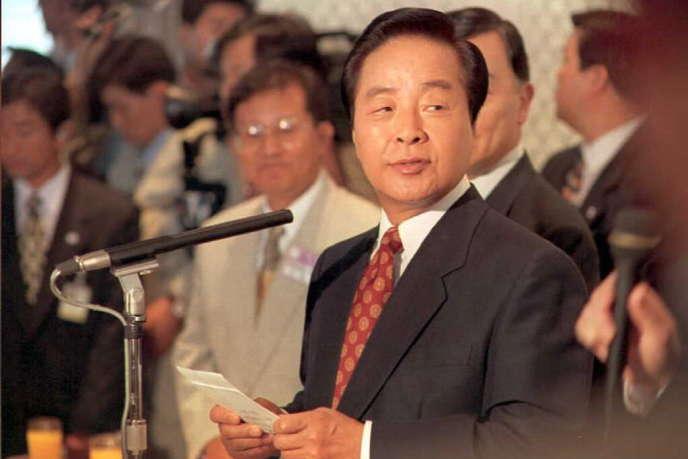 Le president Kim Young-sam, en 1995.