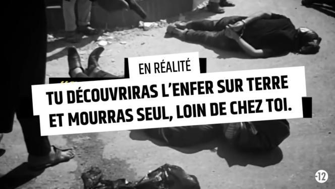 Capture d'écran de la campagne de communication « Stop djihadisme ».