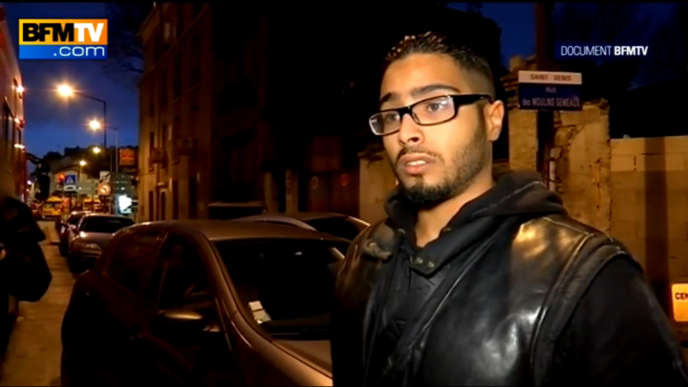 Jawad B. lors de son entretien à BFMTV à l'aube de l'assaut de la police mercredi.