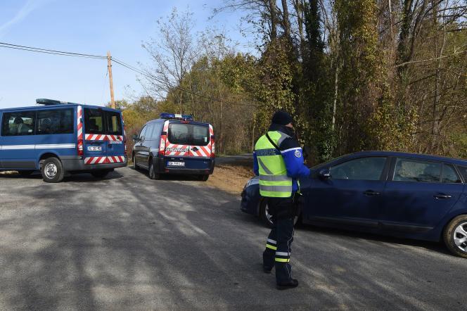 A Artigat (Ariège), près de la maison d'Olivier Corel, le 24 novembre.