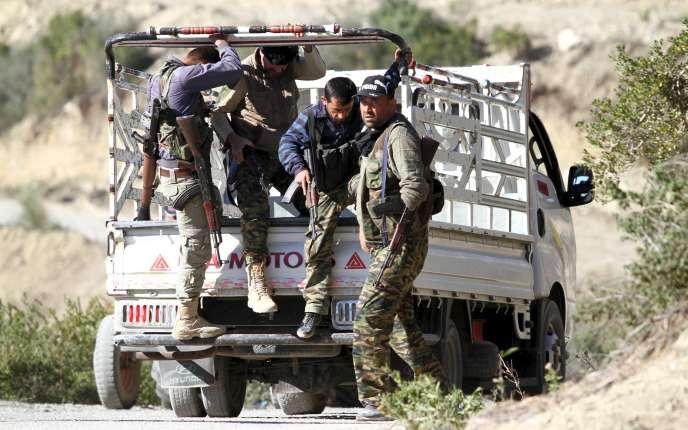 Des combattants turkmènes près du village syrien de Yamadi, le 24 novembre.