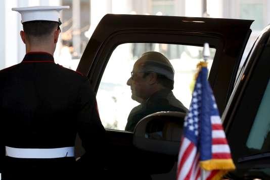 François Hollande arrive à la Maison Blanche, le 24 novembre 2015.