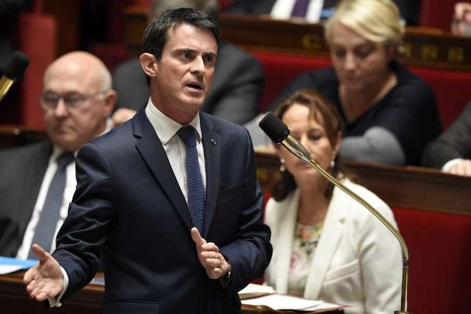 Manuel Valls, à l'Assemblée nationale, le 24 novembre.