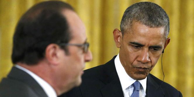 Les présidents Hollande et Obama, à Washington, le 24 novembre 2015.