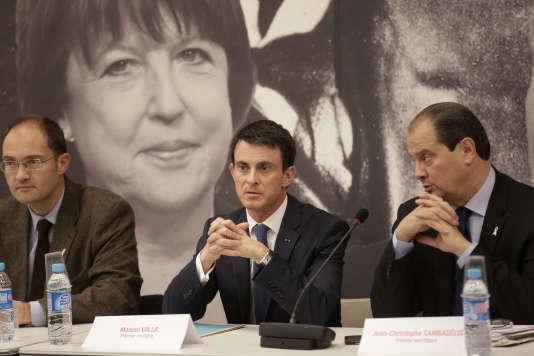 Jean Christophe Cambadélis et Manuel Valls, en novembre.