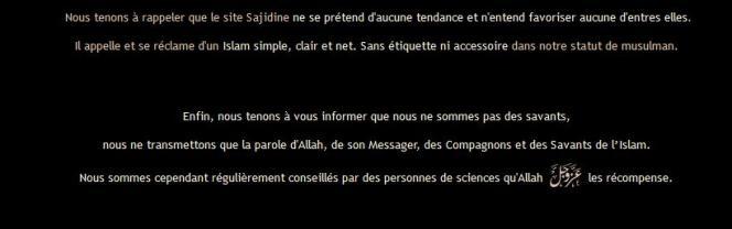 Sadijine.com se présente comme un site