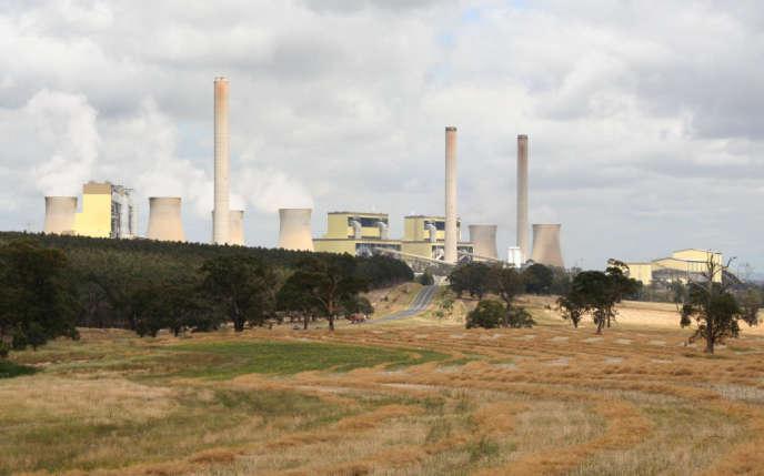 Centrale au lignite de Loy Yang, la plus puissante d'Australie (3300 MW), dans l'Etat de Victoria.