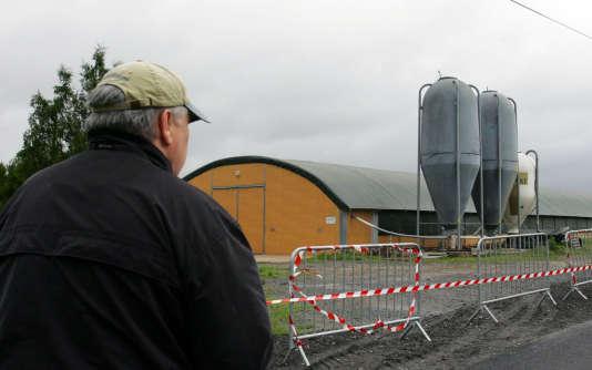 Une ferme d'Avricourt pendant un épisode de H5N1, en Moselle, en 2007.