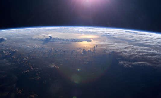 L'océan Pacifique vu de la Station spatiale internationale.