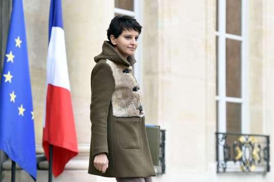 Najat Vallaud-Belkacem, à l'Elysée, le 25 novembre.
