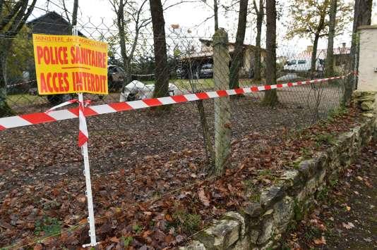 Le 25 novembre à Biras (Dordogne).