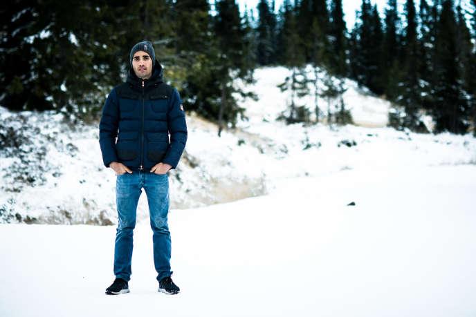 Martin Fourcade, à l'entraînement à Sjujsoen (Norvège) le 20 Novembre.