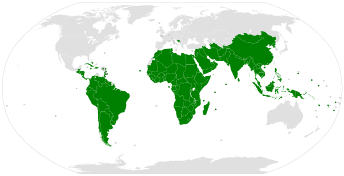 Les pays du G77, plus la Chine, en 2013.