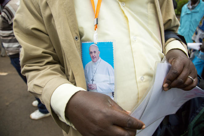 A Nairobi, le 26 novembre 2015, lors de la visite du pape François. Après le Kenya, le pontife doit se rendre en Ouganda et en Centrafrique.