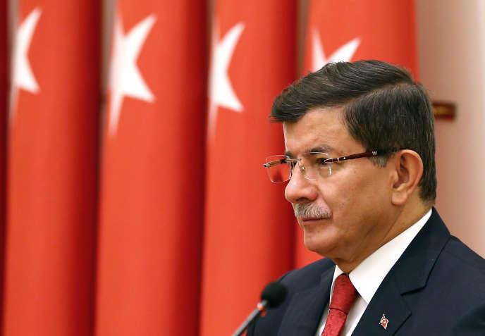 Le premier ministre turc,  Ahmet Davutoglu, le 26 novembre à Ankara.