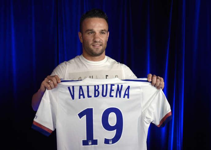 Mathieu Valbuena à Lyon le 11 août 2015.