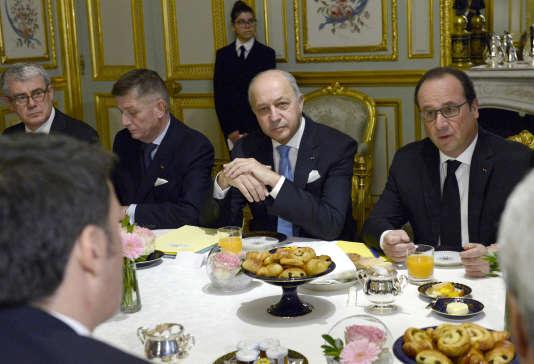 Laurent Fabius et François Hollande, le 26 novembre