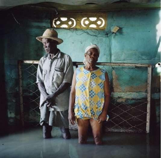 Christa et Salomon Raymond Fils  Village de Décade, Haïti, septembre 2008.