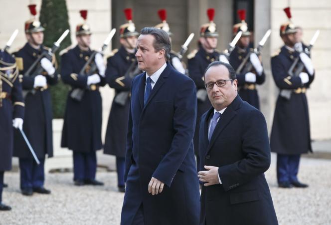 David Cameron à l'Elysée le 23 novembre.