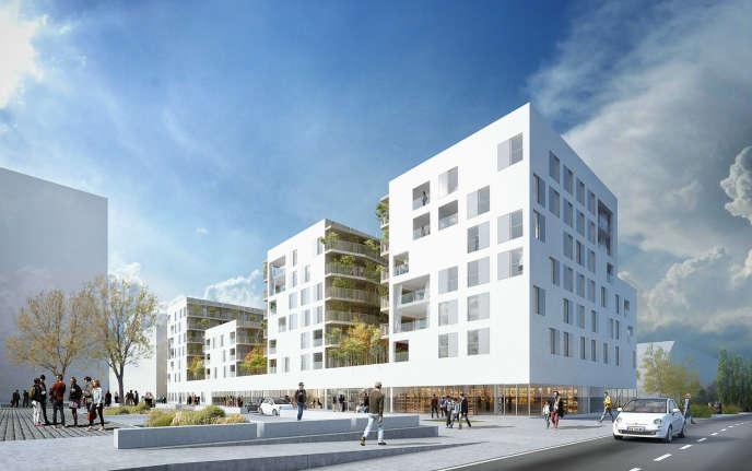 En tout, 300 millions d'euros seront investis dans l'opération financée notamment par l'Agence nationale pour la rénovation urbaine, la métropole et des bailleurs privés. Le projet Senséa de construction de logements et commerces dans le quartier Maurepas-Gayeulles, à Rennes.
