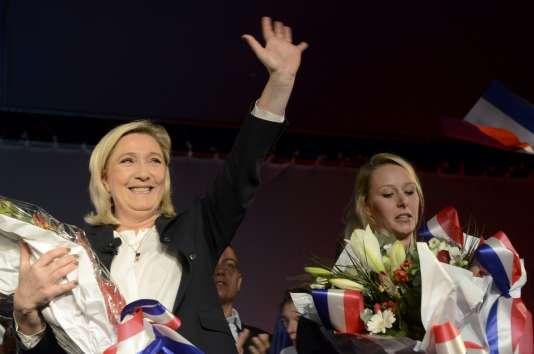 A Nice, vendredi 27 novembre, Marine Le Pen et Marion Maréchal-Le Pen font front commun.