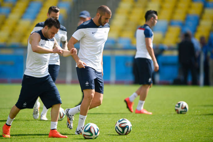 Mathieu Valbuena et Karim Benzema, le 3 juillet 2014.