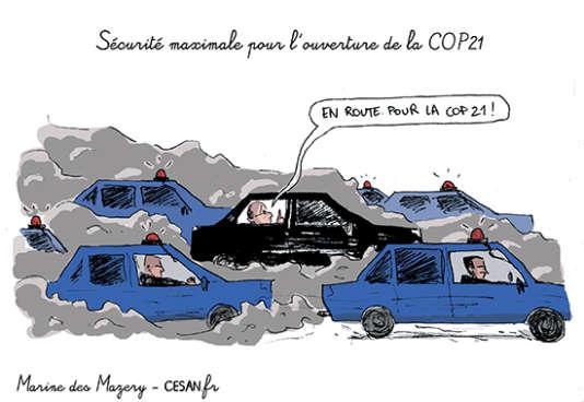 Sécurité maximale pour l'ouverture de la COP21.