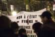 """Christophe Morin / IP3 """" pour Le Monde """". Paris, France le 26 novembre 2015 - Rassemblement sur la Place de la Republique contre l' interdiction de manifester dans le cadre des mesures de l' etat d' urgence. Demonstration on the Place de la Republique to protest against the ban of protestation, since the terrorists attacks, on November 26, 2015"""