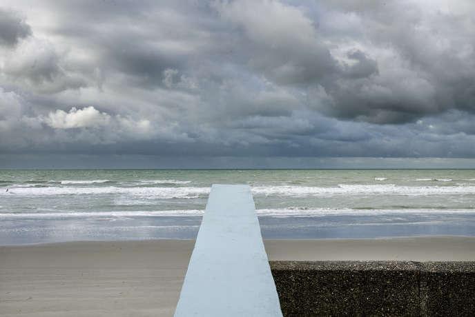 Fort-Mahon-Plage (Somme), sur la côte picarde. A quelques encablures, le fleuve l'Authie marque la limite avec le Nord.