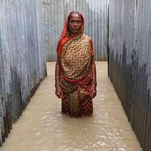 Johora, village de Chandanbaisa, Sariakandi Upazila, Bogra District, Bangladesh, septembre 2015.