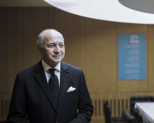 Laurent Fabius, ministre des affaires étrangères, à l'Unesco le 27 novembre.