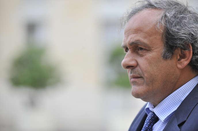 Michel Platini au déjeuner de préparation pour l'Euro 2016 à l'Elysée.