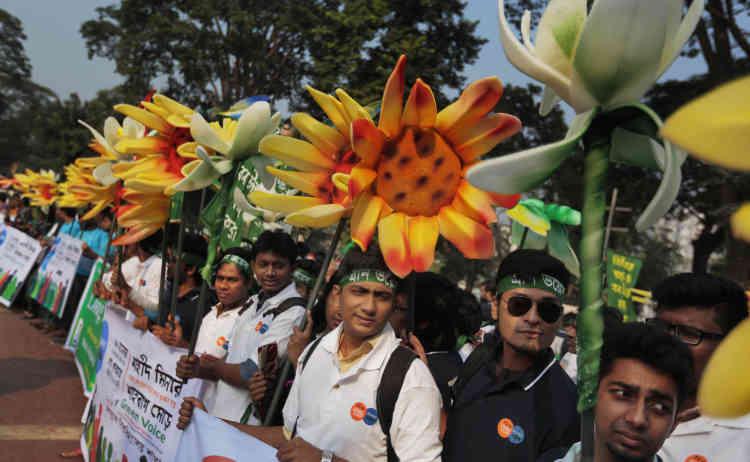 Rassemblement à Dhaka, au Bangladesh, le 28 novembre.