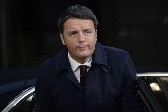 Le premier ministre italien, Matteo Renzi, à Bruxelles, le 29 novembre 2015.
