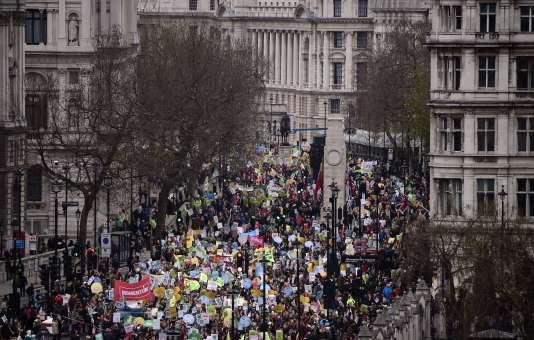 La marche pour le climat à Londres, dimanche 29 novembre.