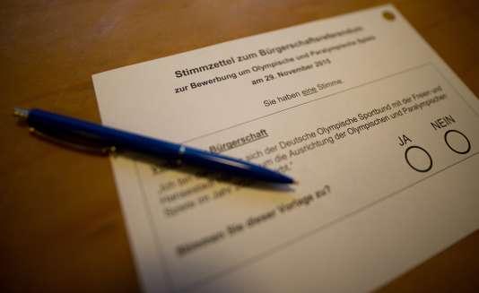 Les habitants de Hambourg ont rejeté, dimanche 29 novembre, la candidature pour l'organisation des Jeux Olympiques d'été en 2024 avec 51,7% des votes favorables au « non » au référendum organisé dans la ville.