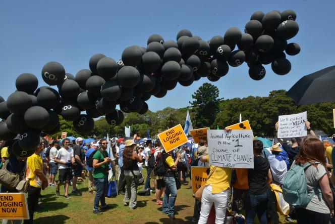 Plusieurs dizaines de milliers de personnes ont marché, dimanche à Sydney, pour le climat.