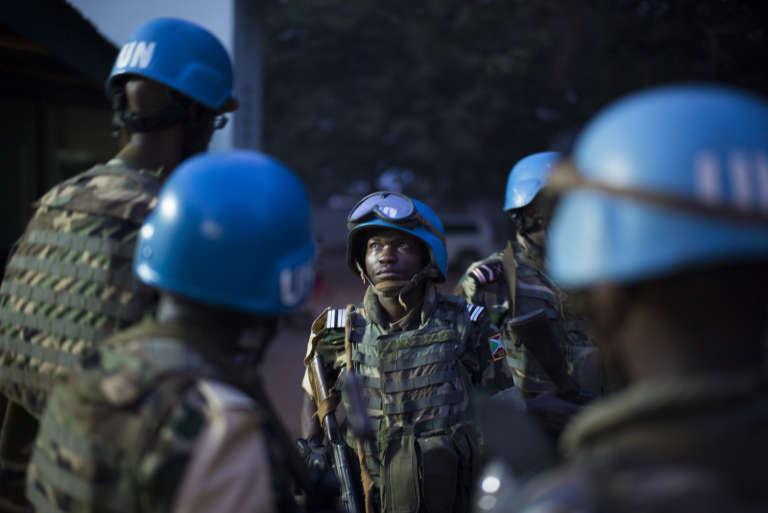 Des casques bleus à Bangui, la capitale de la Centrafrique.