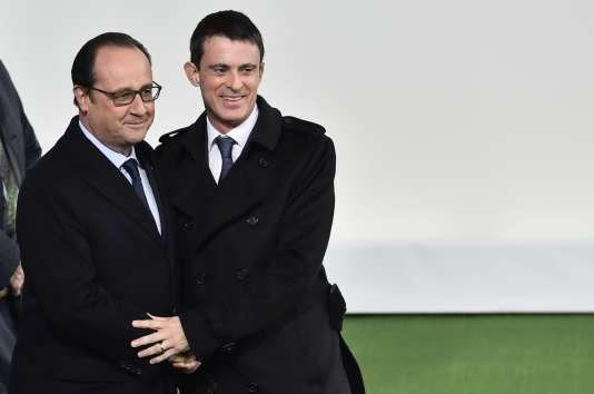 François Hollande et Manuel Valls à l'ouverture de la COP21 le 30 novembre 2015.
