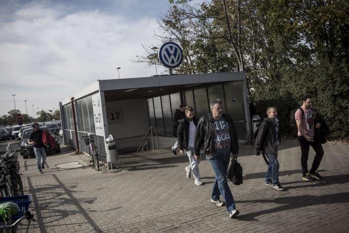 A l'usine Volkswagen de Wolfsburg, en Allemagne.