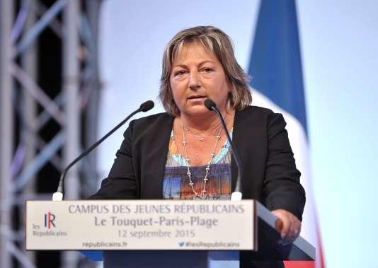 La maire de Calais, Natacha Bouchart, en septembre 2015.