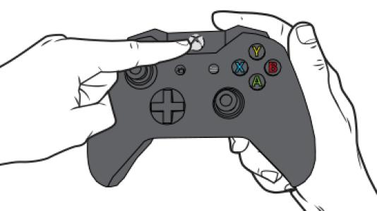 Pour aider le joueur à connecter une seconde manette sur sa Xbox One, Microsoft propose un guide en huit étapes avec schémas.