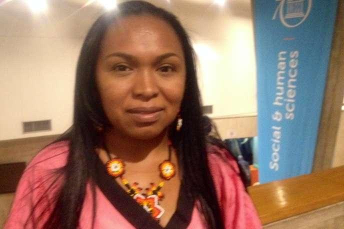 Yasmin Romero Epiayu, leader de la communauté Wayuu de Colombie.