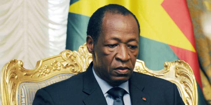 L'ancien président burkinabé Blaise Compaoré à Ouagadougou, en juillet 2014.