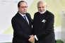François Hollande et Narendra Modi, pendant la COP21, au Bourget, le 30 novembre 2015.