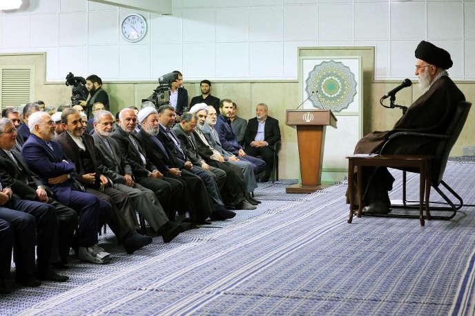 L'ayatollah Ali Khamenei, le 1er novembre, à Téhéran.
